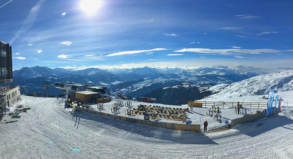 Ski-Herausforderung in Laax