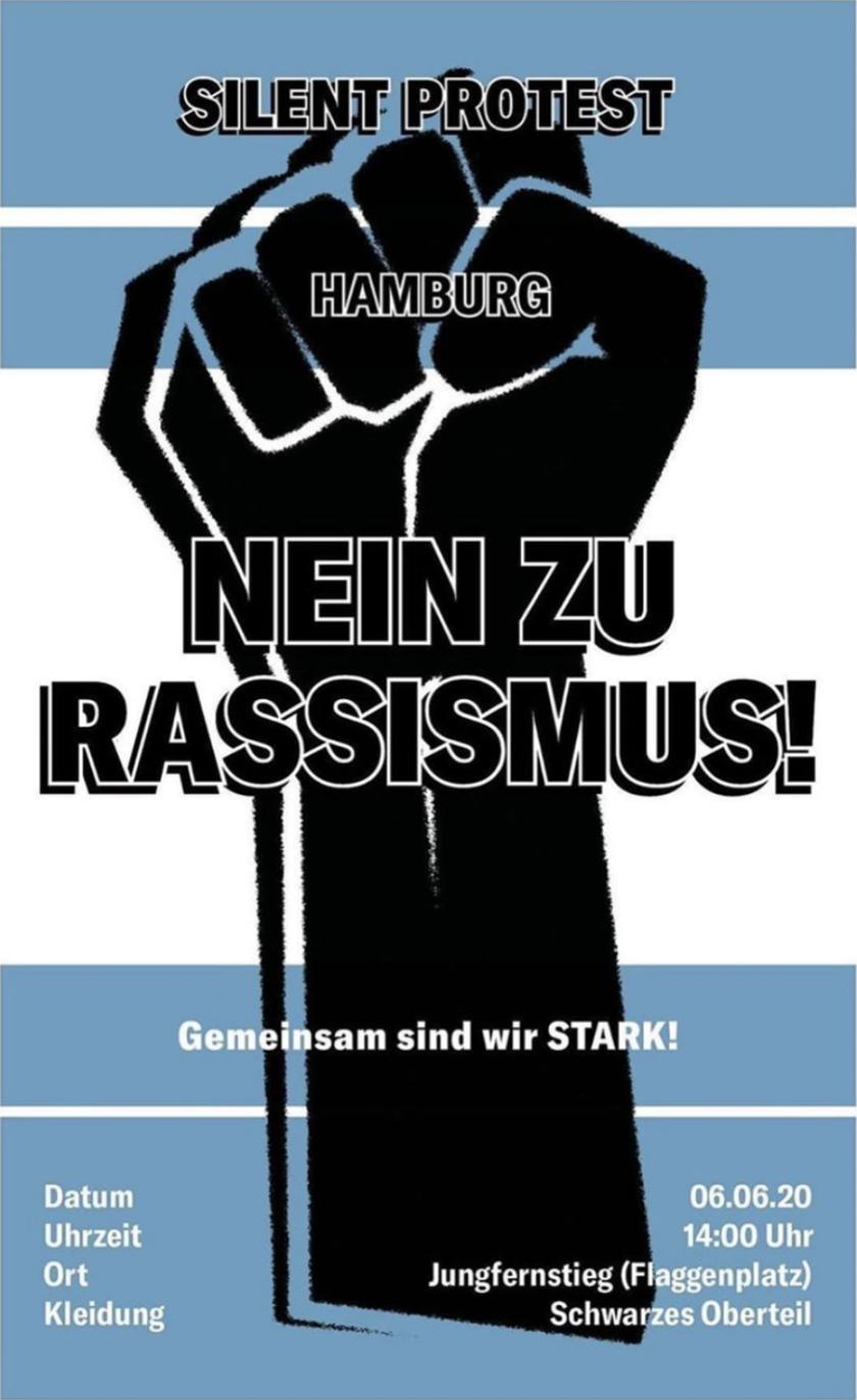 silent demo hamburg – nein zu rassismus